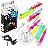 12 Premium Power-Knicklichter KNIXS im 6-Farb-Mix
