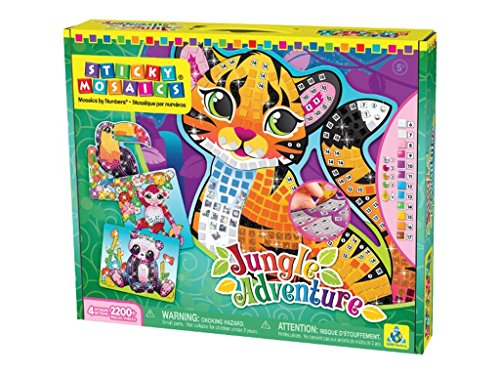 The Orb Factory Sticky Mosaics Jungle Adventure Craft Kit
