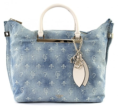 Guess Damen Bags Hobo Shopper, Blau (Blue Denim), 12.5x33x41 centimeters (Hobo-handtasche Guess)