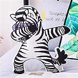Yuhualiyi123 Kreative Plüsch Zebra Unicorn Panda Spielzeug-Kissen-Hip Hop Juvenile Tier-Kissen...