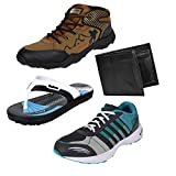 #7: Earton Men Combo Pack of 4 Sports Shoe With Wallet & Slipper