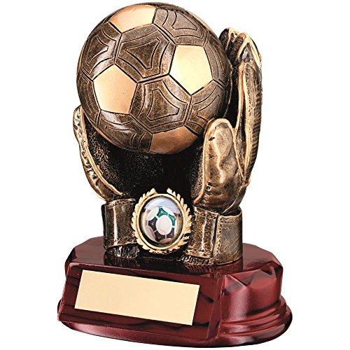 BRZ/Gold Kunstharz Fußball Torwart 'Ball in Hände' Trophy-(2,5cm Mitte) 7in -