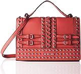 Love Moschino Damen Borsa Pebble Grain Pu Schultertasche, Rot (Rosso), 9x19x29 cm