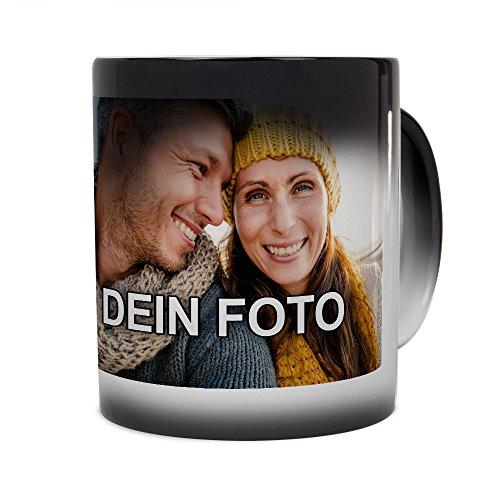 PhotoFancy® - Zaubertasse mit Foto Bedrucken Lassen - Magic Mug Personalisieren - Fototasse Zauberbecher selbst gestalten