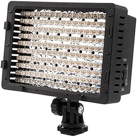 NEEWER ® CN-160 - Panel de luz LED regulable de 160 piezas para cámara de vídeo y digital SLR  Canon Nikon, Pentax, Panasonic, Sony, Samsung y