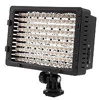 Caratéristiques:    La LED lampe de caméscope vous permet de lier des lumières ensemble pour faire une lumière plus grande    160 LED lampes pour l'éclairage optimal et la diffusion    Vous aide à assurer les réglages parfaits des images    Cet ar...