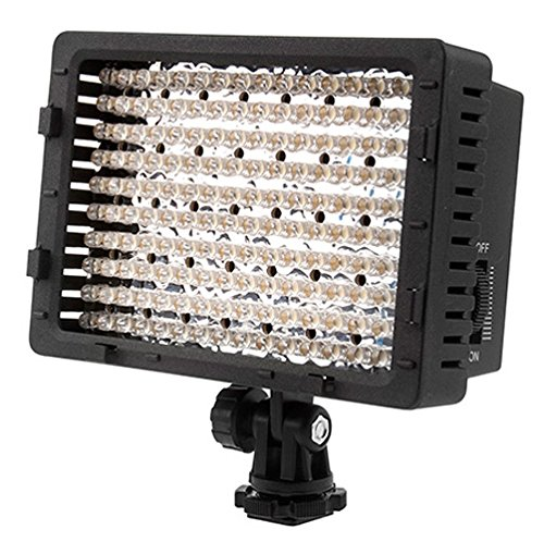 Neewer CN 160 LED CN-160 Dimmable Ultra High Power Panel Digital Camera/Camcorder Video Light, LED Light for Canon, Nikon, Pentax, Panasonic,SONY, Samsung and Olympus Digital SLR Cameras