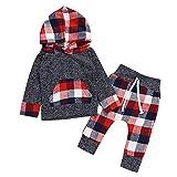 Conjuntos Bebe Niño Navidad,  Btruely Ropa Bebe otoño Invierno Camisetas de Manga Larga + Pantalones Camisas de Manga Larga Ropa Infantil Conjuntos de Ropa
