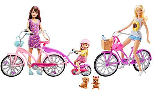 Barbie Sisters Camping Fun Bike Set inc 3 Dolls & 2 Bikes / Barbie et ses Sœurs Camping Fun Vélo Ensemble inc 3 Poupées et 2 Vélos - Skipper, Chelsea 0887961420289