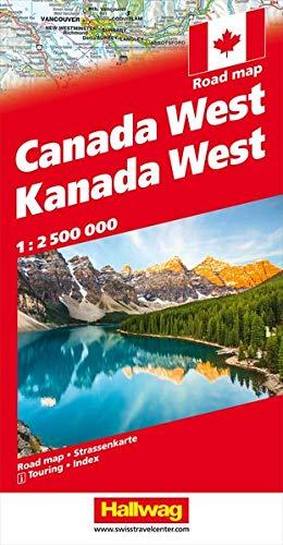 Kanada Strassenkarte West 1:2.5 Mio (Hallwag Strassenkarten)