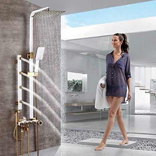 SHIJING Duschkopf mit Massagestrahl, für Badewanne und Dusche, schwenkbar, Schwarz 1 -
