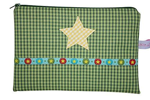 Lilli Cœur de Lion Petite poche Culture Trousse de toilette Green Stars avec poche intérieure