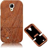 Vandot para Samsung Galaxy S4 Funda de Madera Natural Hecha a Mano de Bambú Madera Retro Ultra-delgada Retro Carcasa Wood Case Cover para el Samsung Galaxy S4 i9500 - (Tallado Árbol)