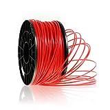Kaisertech Filament für 3D Drucker 1kg PLA / ABS 1.75mm / 3mm - Premium Qualität & verschiedene Farben (PLA 1.75mm, Rot)