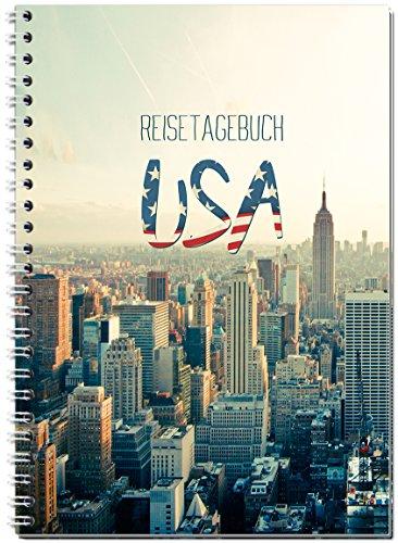 Reisetagebuch USA / Amerika zum Selberschreiben / Notizbuch A5 Ringbuch mit 120 Seiten / Packliste, Reiseplan, Zitate, spannende Reise-Challenges...Ver.2 - Von Sophies Kartenwelt