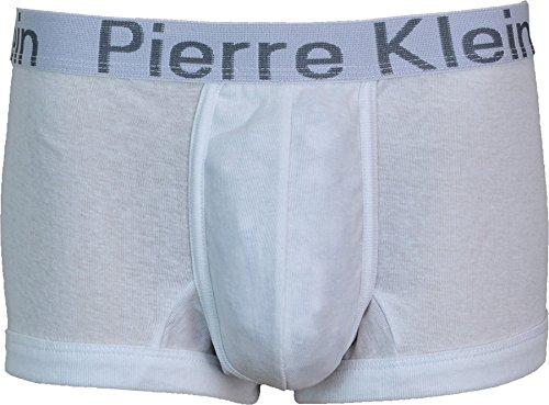 Men's 1 Pack Pierre Klein-Maglia intima Costume Boxer, 3 colori Bianco