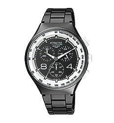Q&Q Attractive STYLISH-SPORTS Chronograph Black Dial Watch-DA86J005Y