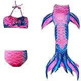 Das beste Mädchen Meerjungfrauen Bikini Kostüm Meerjungfrau Schwimmanzug Badeanzüge Tankini (120, 21)