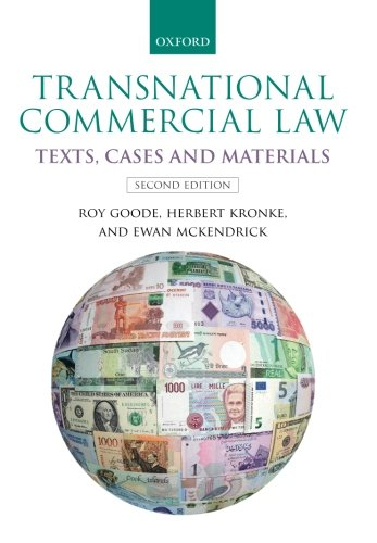 Transnational Commercial Law: Texts, Cases and Materials por Roy Goode