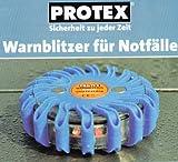 Warnblitzer für Notfälle aus dem Hause Protex, warnt bei Pannen, sichert Unfallstellen, schützt vor Gefahrenquellen, Sicherheit für jederzeit, Maße (Ø x H) ungefähr 10,5 x 3,5 cm
