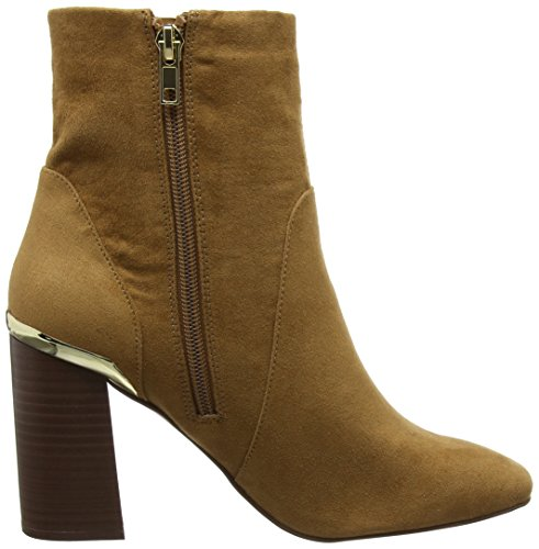 Dorothy Perkins Damen Amanda Wooden Heel Chelsea Boots Braun (Tan)