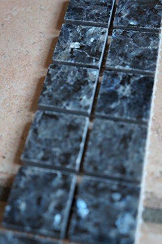 Granit Mosaik Bordüre Blue Pearl 5x30 cm 8 mm poliert Fliesen -