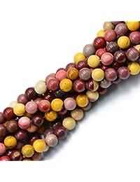Natural Mookaite Jasper Edelstein runde loose Perlen Strang 8mm 15 Zoll