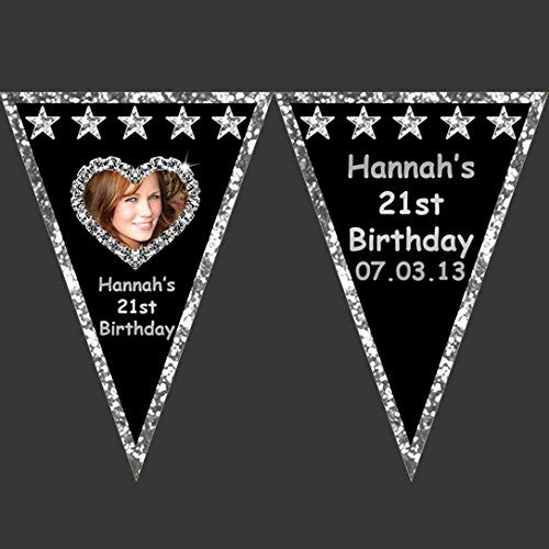 personalised-large-silver-glitter-effect-photo-bunting-wall-banner-hen-birthday-party