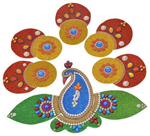 SM Craft Creations Acrylic Rangoli (30 cm x 28 cm x 0.5 cm, CI-795)