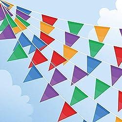 Bunte Wimpelkette Stoff f/ür Hochzeit Kinderzimmer Geburtstag Dekoration Party/ Hook 4 St/ück Wimpelkette Girlande Wimpelk Outdoor / 5M 12Pcs Wimpel//Jede Girlande, 18 Bunte Luftballons