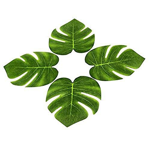 (DoTech 12 Pcs Tropische Künstliche Palme Blätter Gefälschte Pflanze Blätter für Hawaiianische Luau Party Beach Party Dschungel Strand Thema Party Geburtstag Dekoration (Palme Blätter))