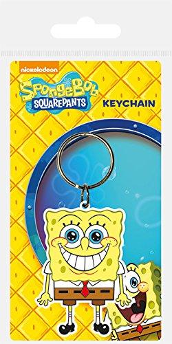 4 Band Spongebob (Spongebob Schwammkopf Gummi Schlüsselanhänger)