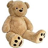 Wagner 9050 - Riesen XXL Teddybär 170 cm groß in hell-braun - Plüschbär Kuschelbär Teddy Bär in beige 1,70 m
