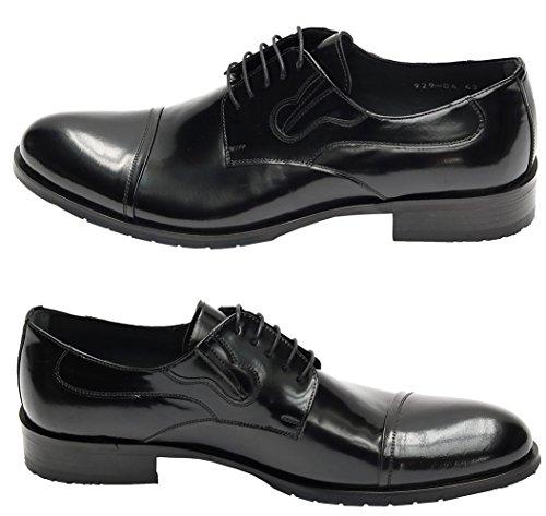 Muga Hommes chaussures à lacets-9290 Noir