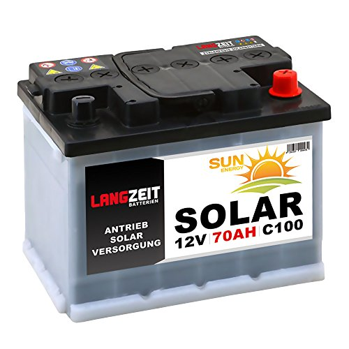 Solarbatterie 70Ah 12V Wohnmobil Boot Camping Schiff Rollstuhl REHA Batterie Solar 60Ah -
