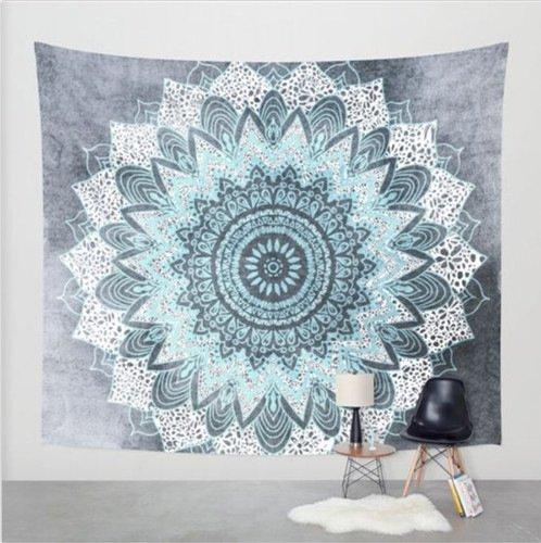 Indian Tapisserie Wandbehang Wandteppiche Mandala Tuch Wandtuch Indien Hippie-/ Boho Stil als Dekotuch /Tagesdecke indisch orientalisch psychedelic 150x200cm-F