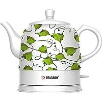 Generic Tetera cerámica, hervidor eléctrico para té, agua y café 1200ML (Verde)
