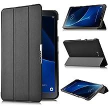 ELTD Lenovo TAB3 10 Plus Funda, Ultra Slim Funda de piel para Lenovo TAB3 10 Plus con la función, Negro