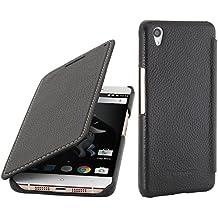 StilGut Book Type Case, Funda de piel sin cierre clip para el OnePlus X, Negro