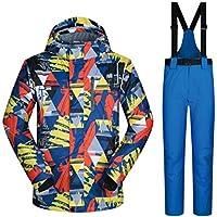 Jiuyizhe M-XXXL Chaqueta de esquí y pantalón de Snow para Hombre Conjunto de Ropa Deportiva de Invierno (Color : 05, Size : M)