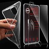 XAiOX® 2 in 1 Set für Samsung Galaxy Note 4 Echt Glas Panzerglas + TPU Schutzhülle in klar transparent