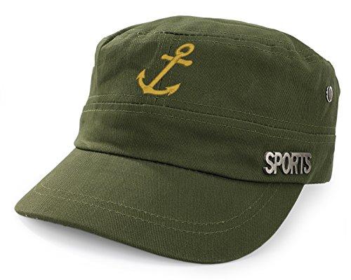 4sold Capitán gorro gorra Capitán Ancient Mariner, Capitán Cabin Boy Crew First Mate Yachting béisbol gorro con texto blanco Army…