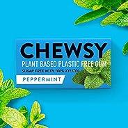 Chewsy Gomme Da Masticare Alla Menta Piperita | Gomma Da Masticare Naturale Senza Plastica | Senza Zucchero E