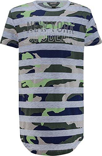 Blue Effect Boys Long T-Shirt 2181-6738, Fb. grau streifen camouflage (Gr. 134/140) -