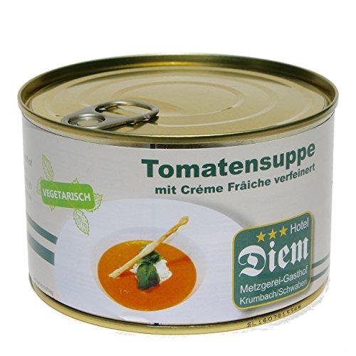 Diem vegetarische Tomatensuppe mit Créme Frâiche verfeinert Dose 400 Gr