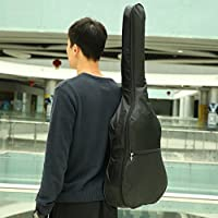 Naisidier Waterproof 420D Nylon Acoustic Guitar Gig Bag Soft Cover with Adjustable Strap Garden Home Kitchen