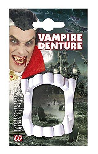 Denti per Costume - Travestimento - Carnevale - Halloween - Vampiro - Dracula - Twilight - Colore Bianco - Unisex - Uomo - Donna - Ragazzi - Bambini