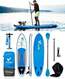 "10FT Inflatable SUP Stand Up Paddle Board (6"" Thick, 31"" Wide) - Beginner's"