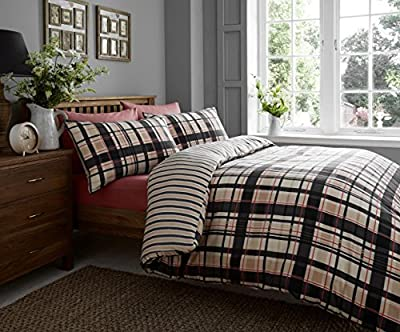 100%Brushed Cotton, FLANNELETTE Duvet Cover Set ,Thermalbedding - inexpensive UK light store.