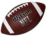 Wilson, American Football, Ballon de fooktbal Américain, NFL Bulk, Cuir mixte, Noir, Pour joueurs récréatifs, Format officiel, WTF1858XB